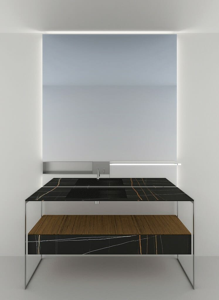 Agape12 - Ell (washbasin) designed by Benedini Associaie with Andres Jost and Diego Cisi