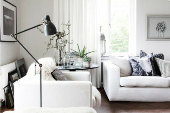 black-white-and-grey-room design
