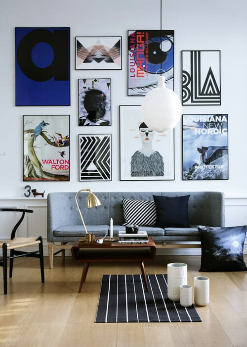gallery wall tips bold