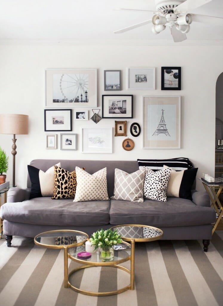 gallery wall tips fun design
