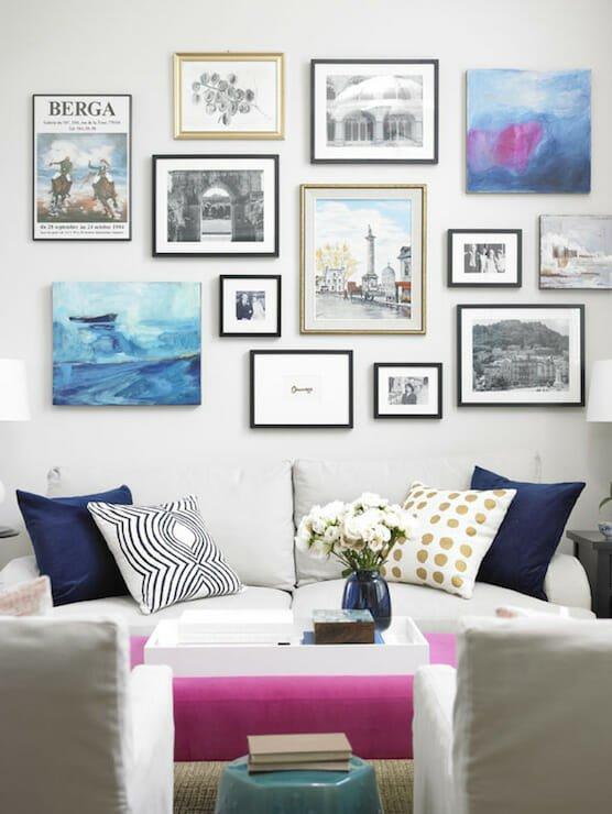 gallery wall tips fun & feminine