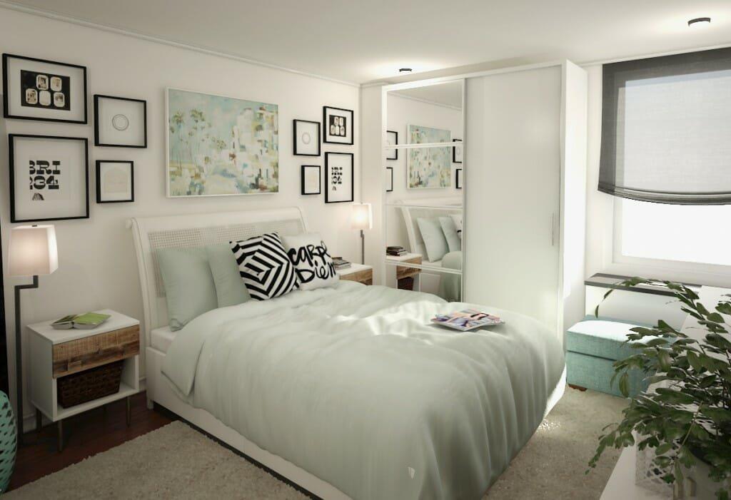 Modern Bedroom 3D Rendering