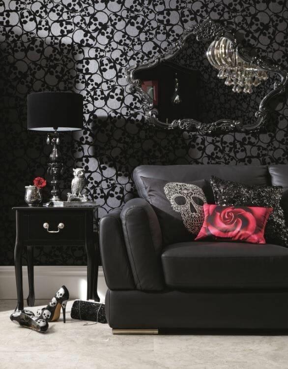 Dim Lit Gothic Living Room
