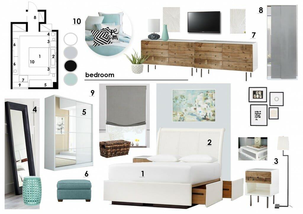 Bedroom Concept Board