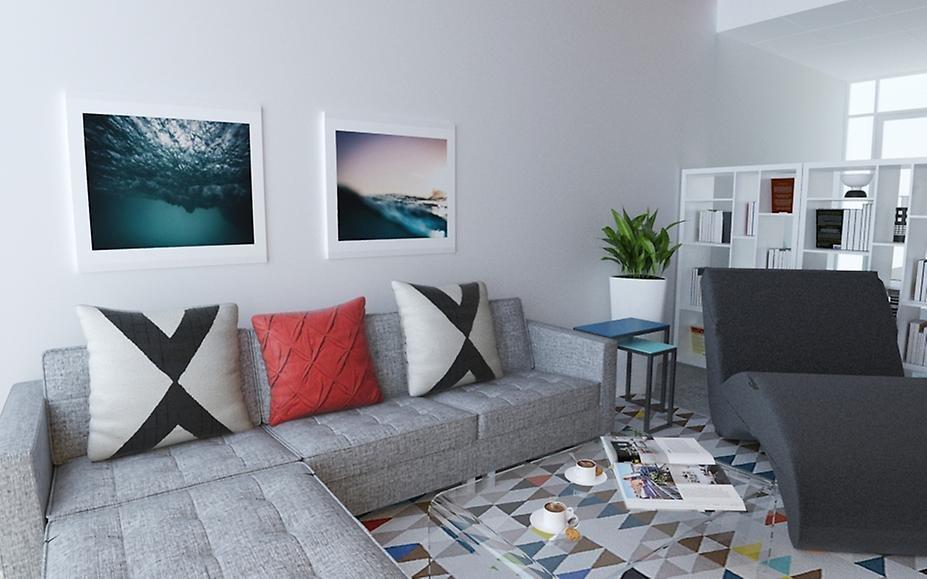 Patterned area rug
