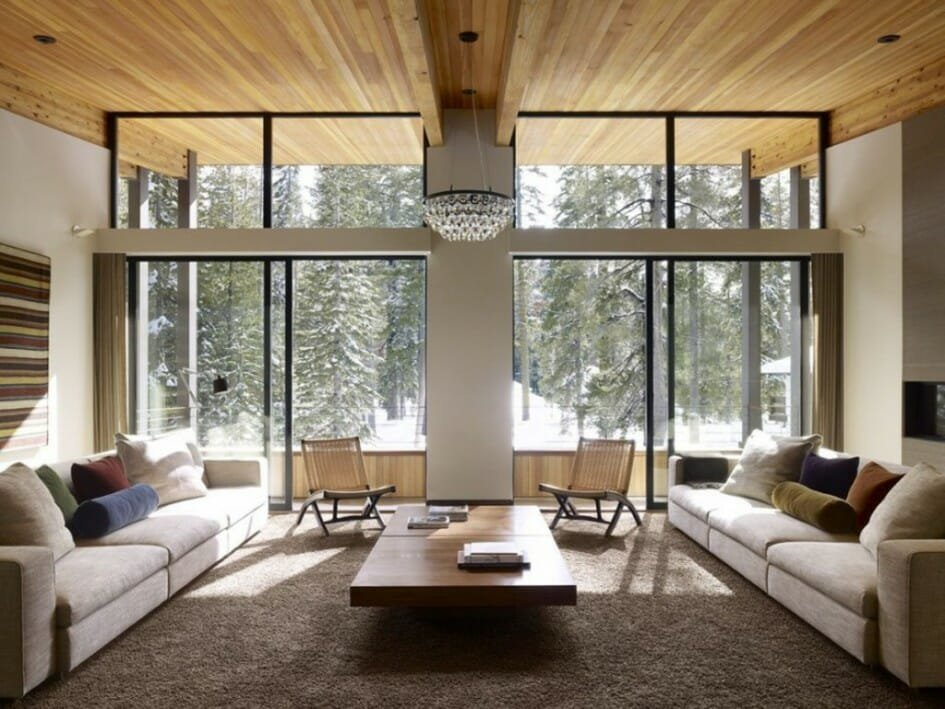 Winter living room