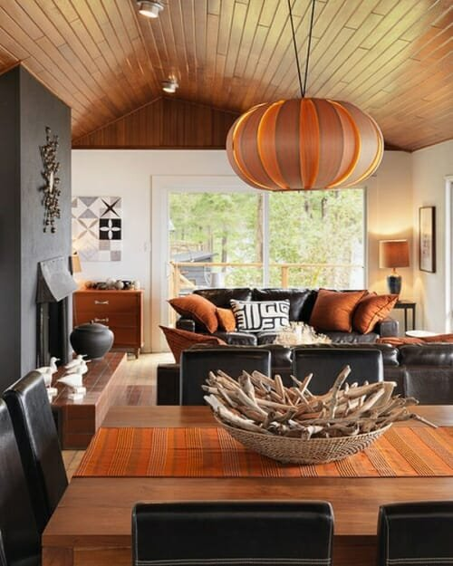 Fall inspired living room