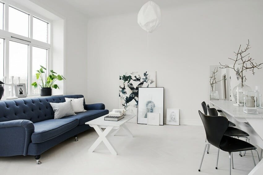 Scandinavian design interior living room