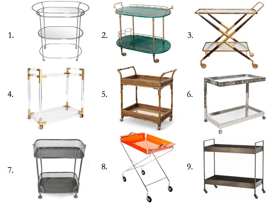 bar cart design types of bar carts