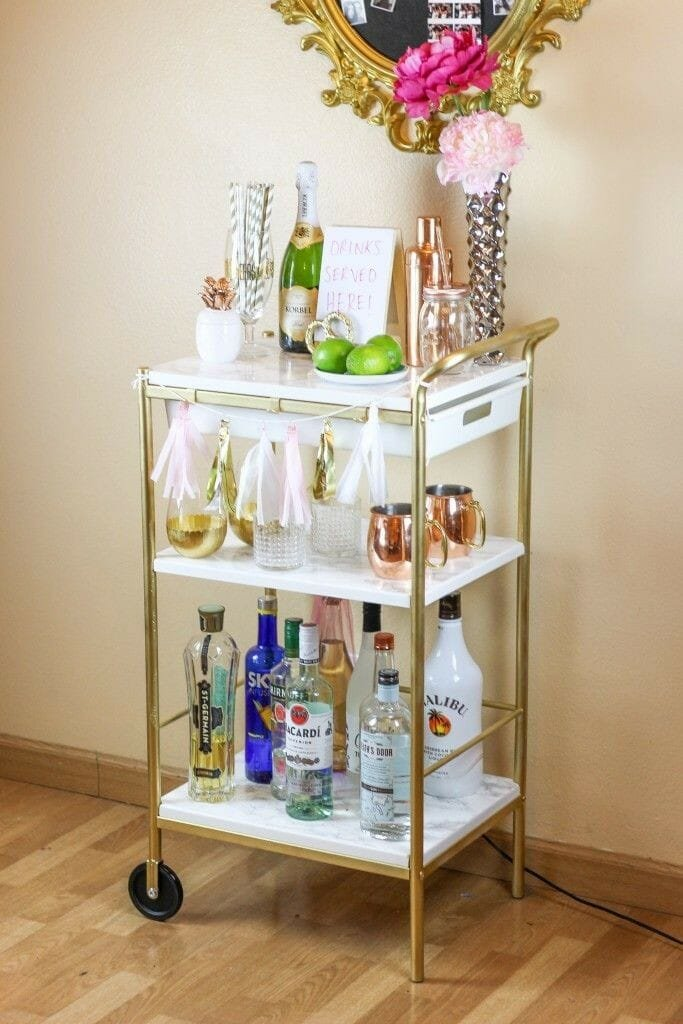 How To Style The Perfect Bar Cart Decorilla Online Interior Design