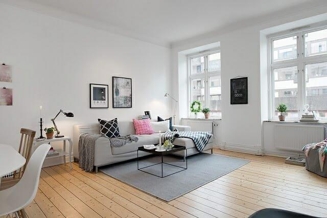 scandinavian design simple living room