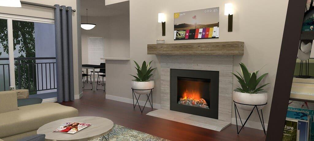 Decorilla interior designer Emily A. living view 2