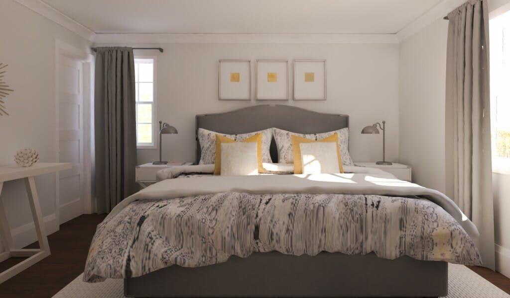 online interior design services Decorilla Eleni Psyllaski bedroom rendering