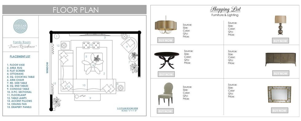 online interior design services Stellar floorplan