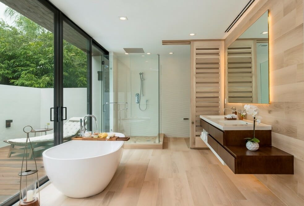 Master bath retreat by Decorilla and interior decorator miami taize monteiro