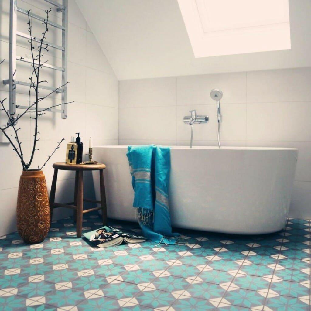 design pattern in bathroom