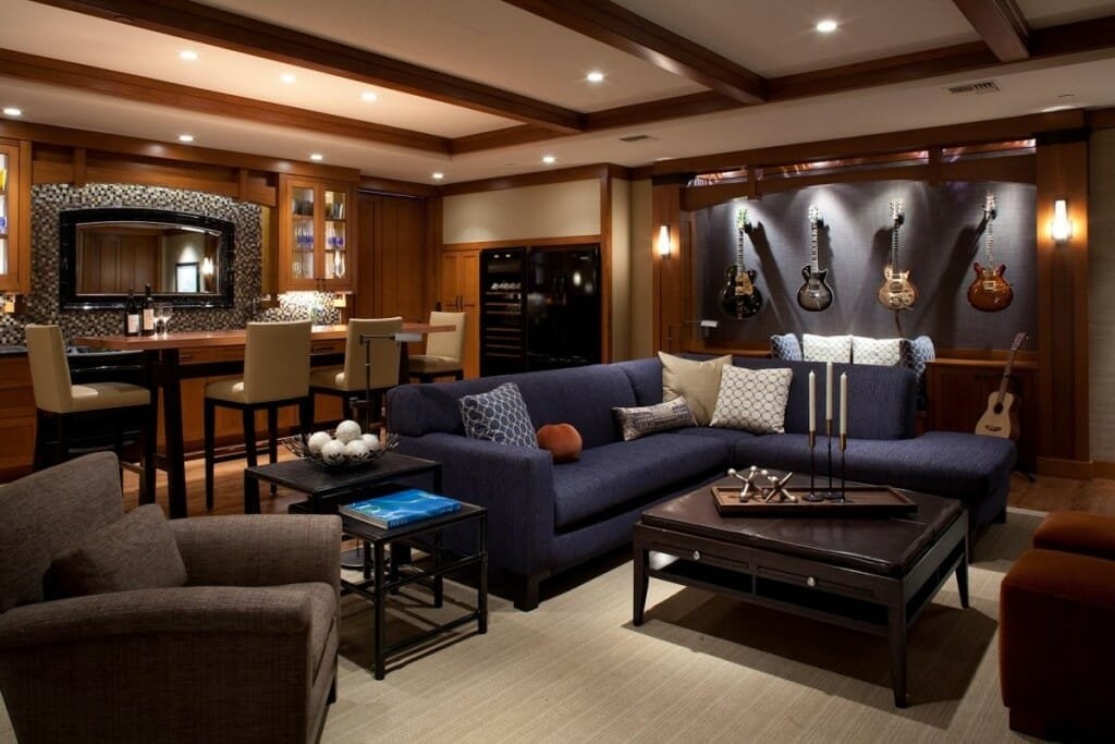 man cave layout