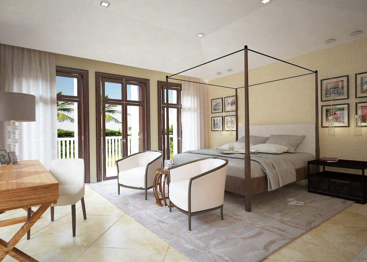 transitional master bedroom by one of the top miami interior designers avanzato designs