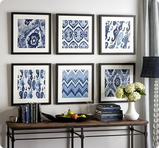 Framed-Ikat-Prints-from-Pottery-Barn
