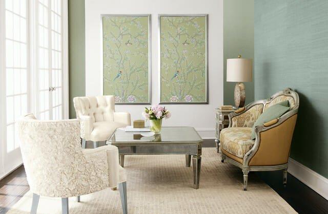 traditional-living-room wallpaper design