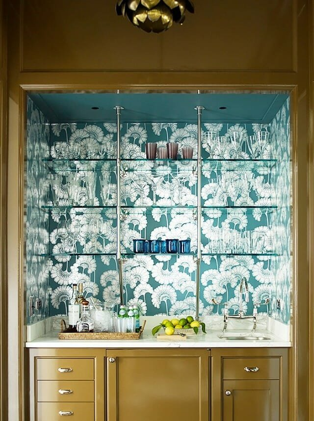 wallpaper design ideas background shelving