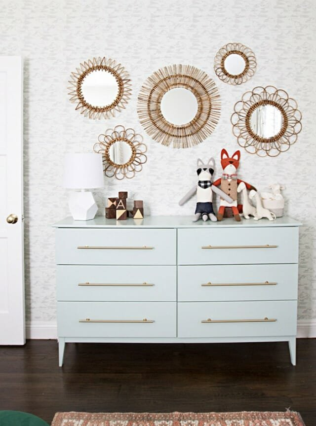 sustainable interior designer dresser with new pulls