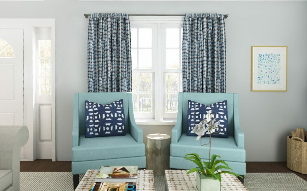Decorilla online interior designer living room