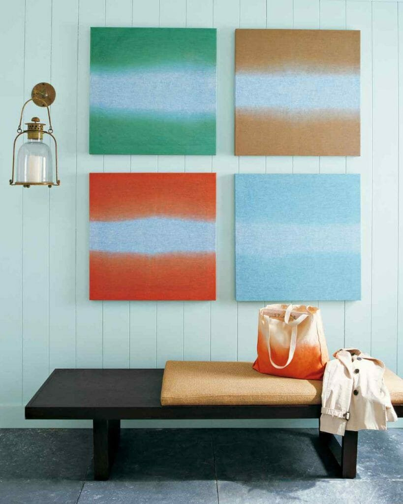 ombre art summer decorating ideas