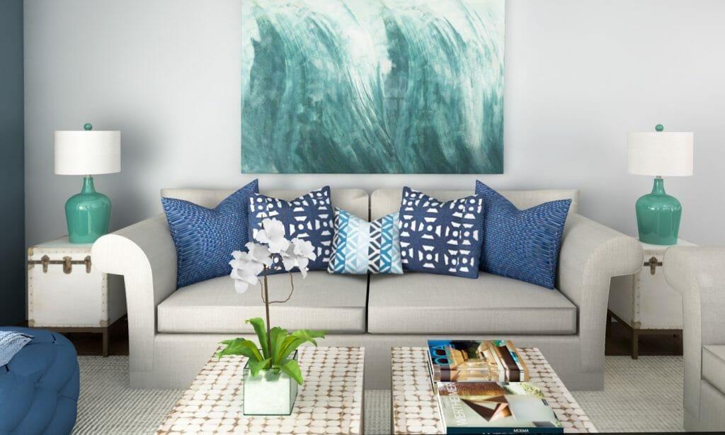 online interior design beach decor living room