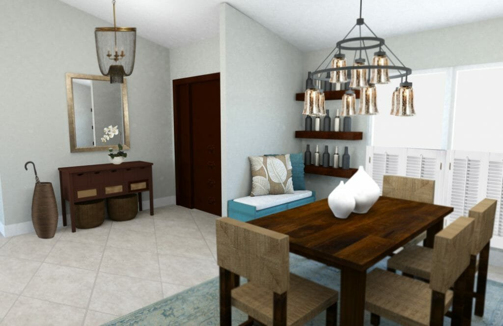 transitional dining room beach decor
