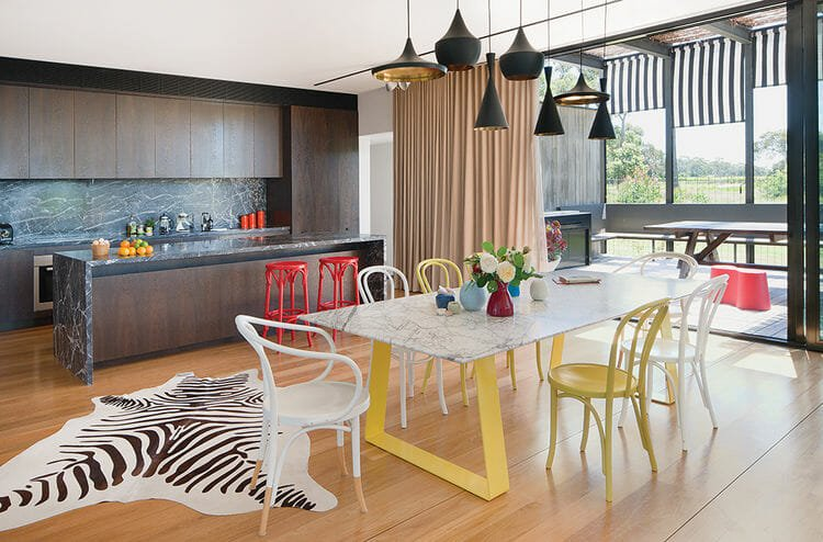 tread_lightly-australia-kitchen-dining-tom-dixon-pendant-lamps-steel-marble-table-chris-connell