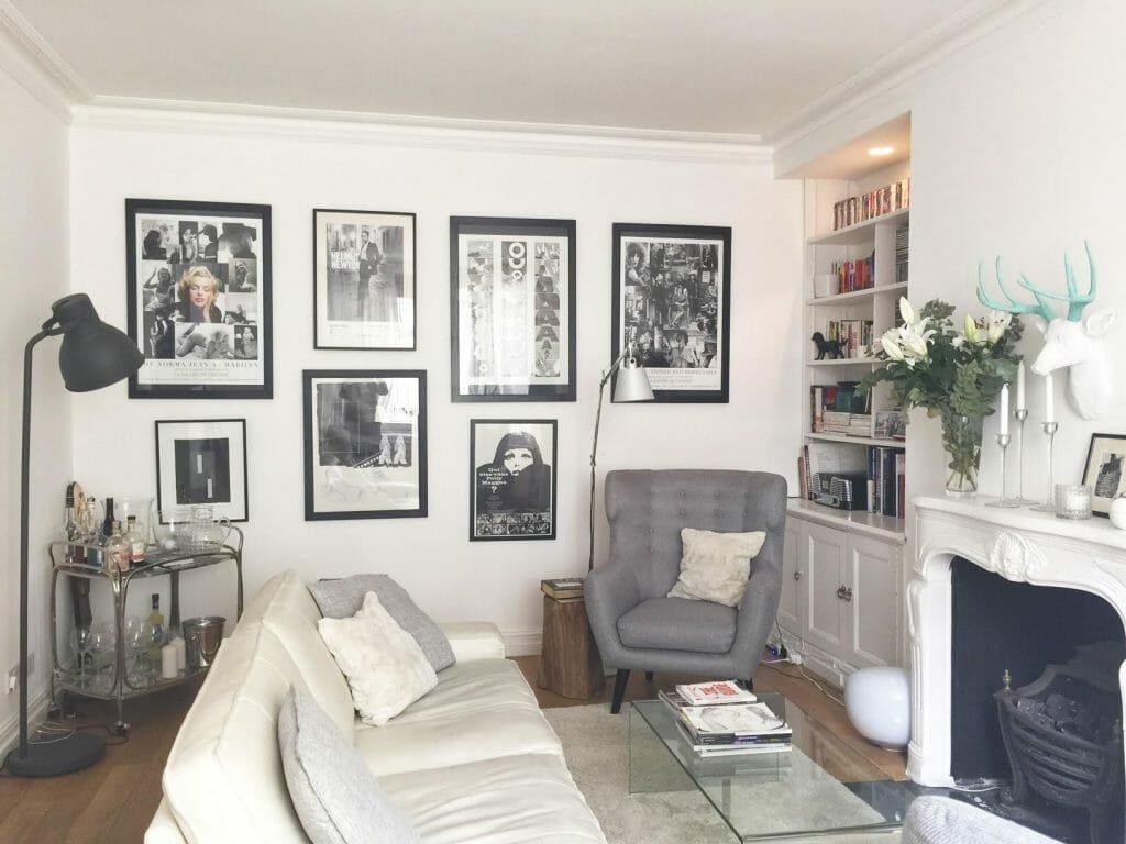Decorilla eclectic living room