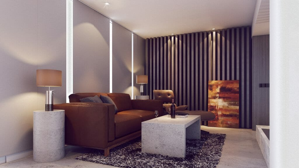 after contemporary living room design