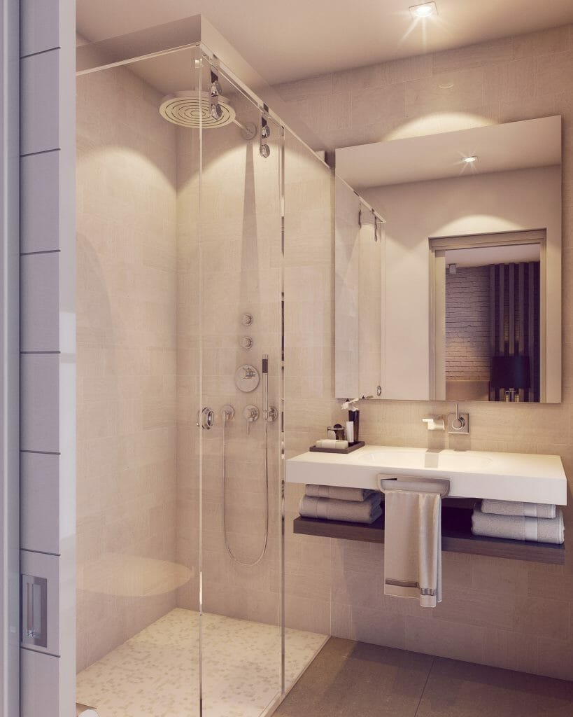 after contemporary online interior design bathroom