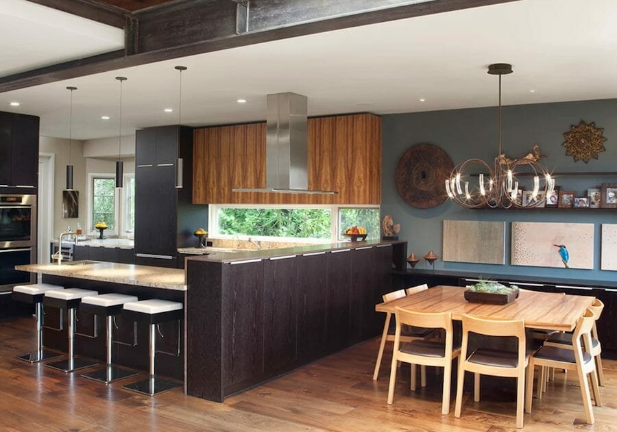 Contemporary kitchen and dining by San Francisco interior decorator and designer SoYoung Mack