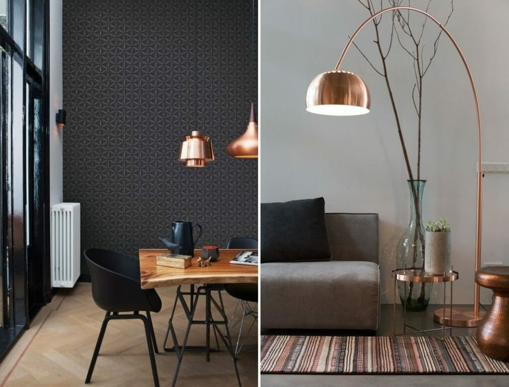 Copper lamp styling-horz