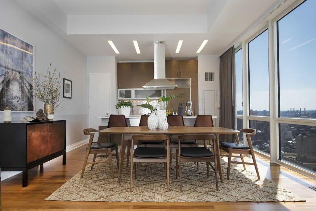 Online interior designer Ibrahim Husin dining room