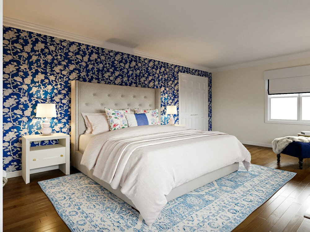 Romantic master suite by affordable san francisco interior designer theresa w