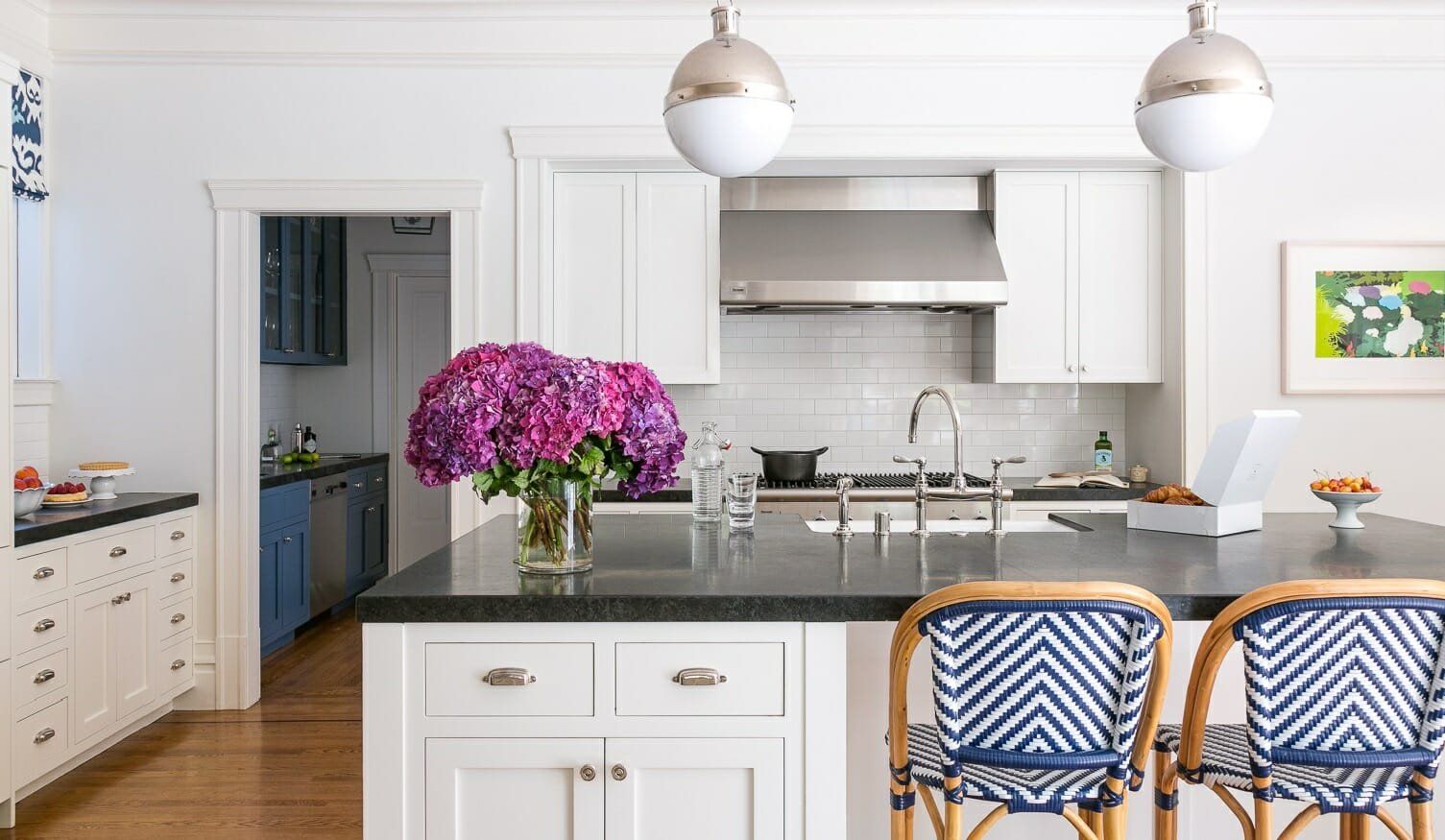 White Kitchen by top san francisco interior decorator grant k gibson