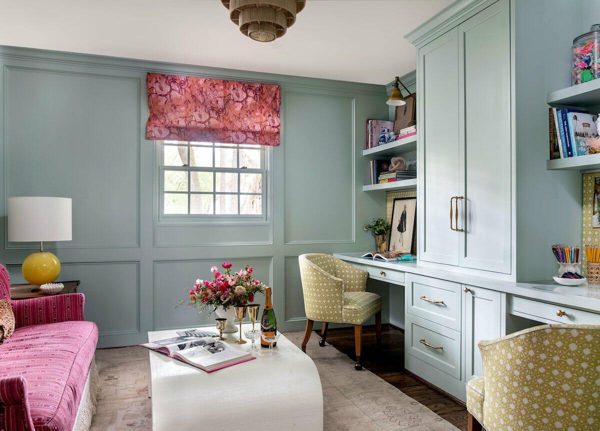 Funky transitional home study by houzz interior designers houston - katie davis