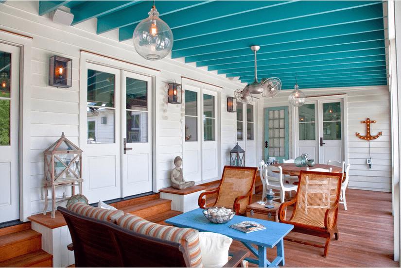 porch design beach style