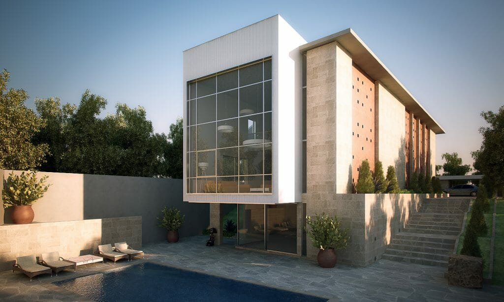 contemporary exterior porch design