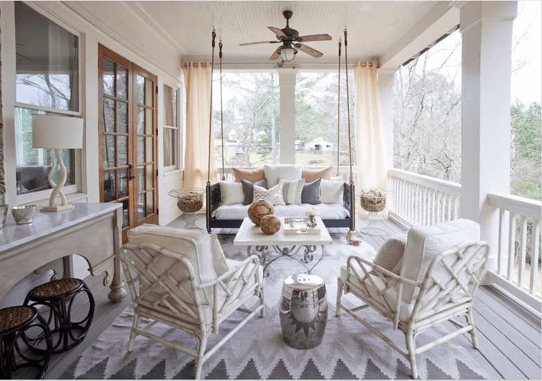 beach eclectic porch design