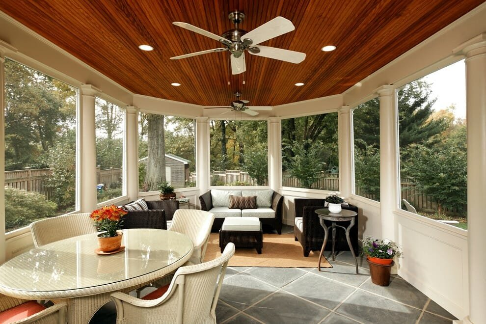 transitional porch design