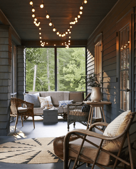 cozy porch design
