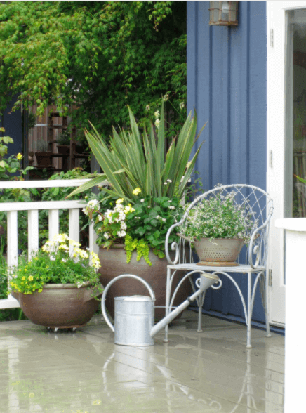 porch design potted plants