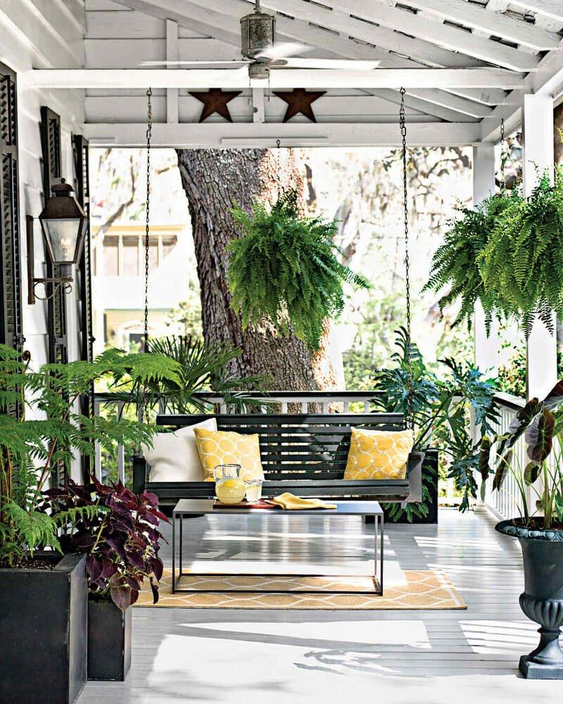 porch design tips plants