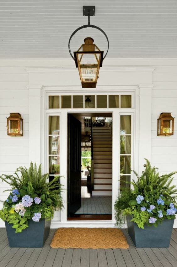 traditional porch design with plants