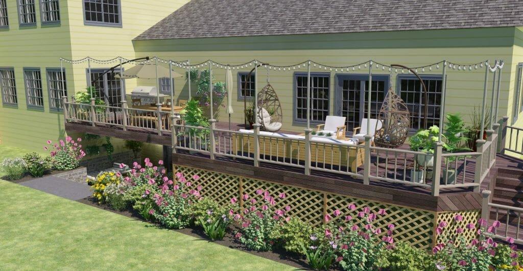 online interior design backyard lighting