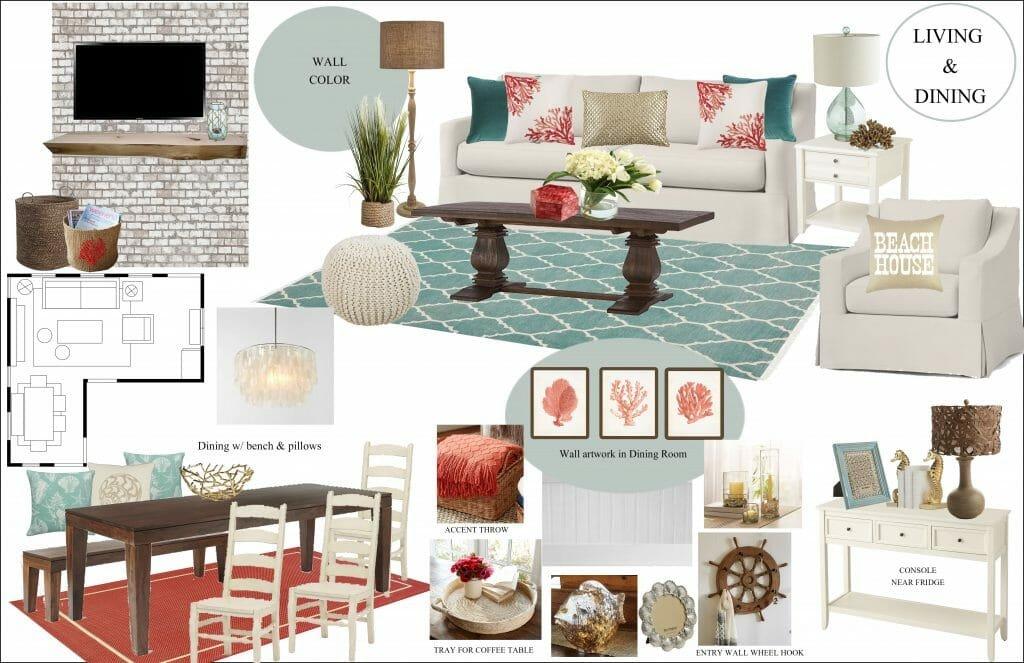 online interior designer beach style living room